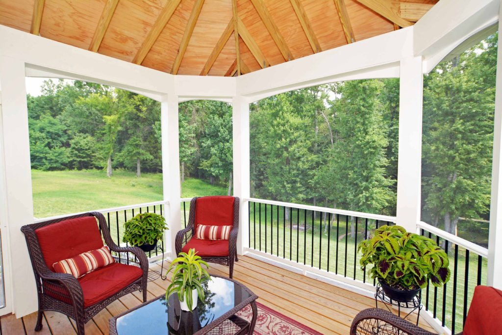 Screened Porch & Yard View